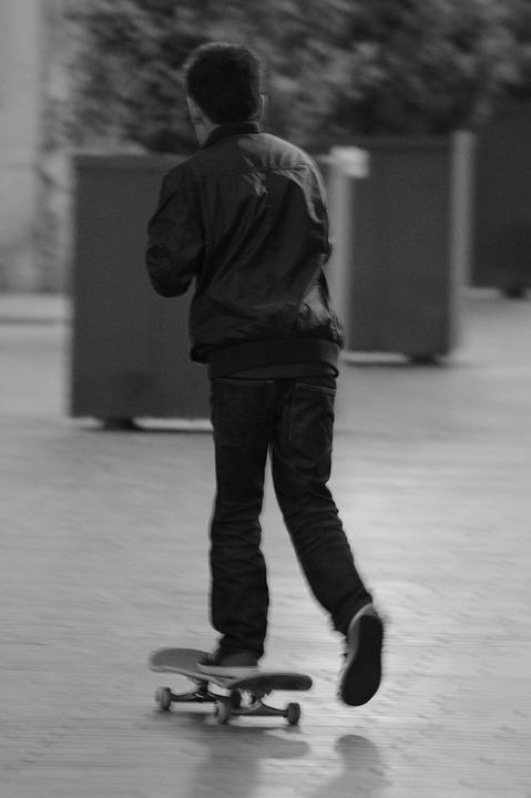People, Child, Boy, Skateboard