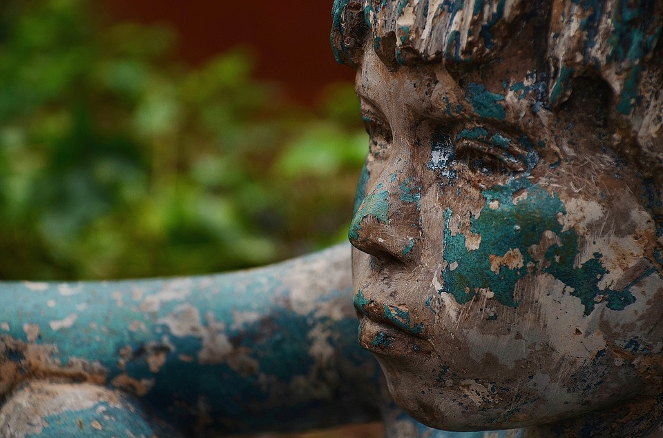 Boy, Face, Profile, Figure, Bronze, Statue, Man