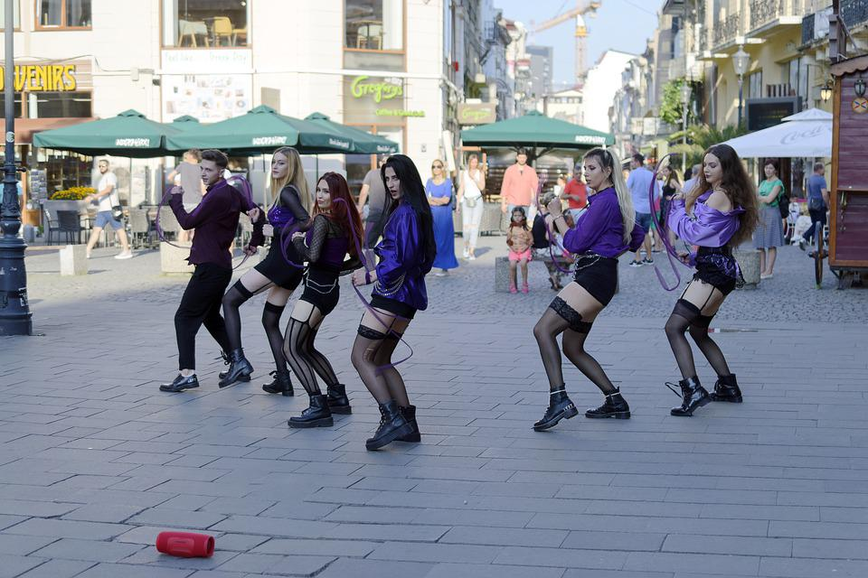 Young People, Dancers, Girls, Boy, Group, Show, Street