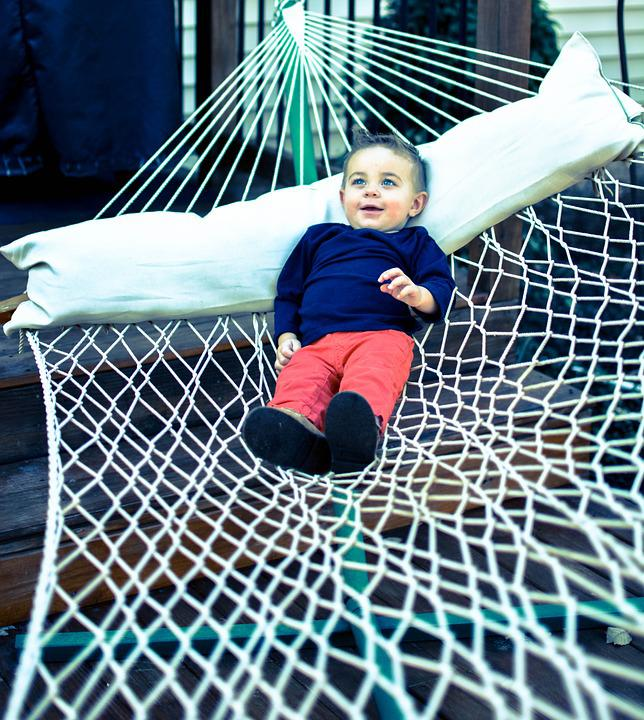 Boy, Hammock, Relax, Child, Kid, Summer, Childhood