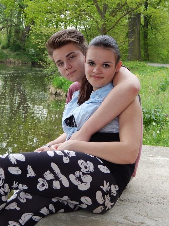 Girl, Boy, Love, Spring, Water, River