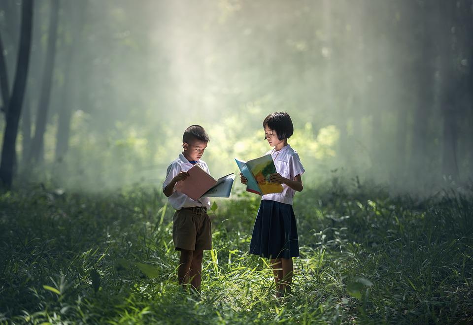 Book, Asia, Children, Boys, Education, Girl, Indonesian