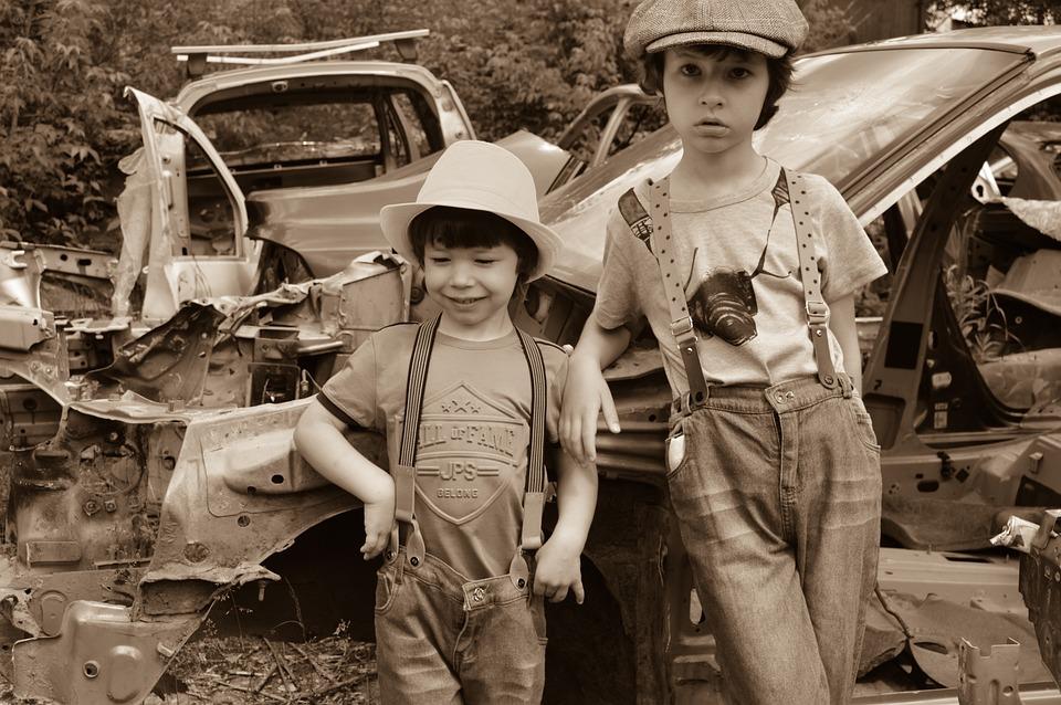 Dump, Boys, Workshop, Mechanics, The Junkyard, Old Car