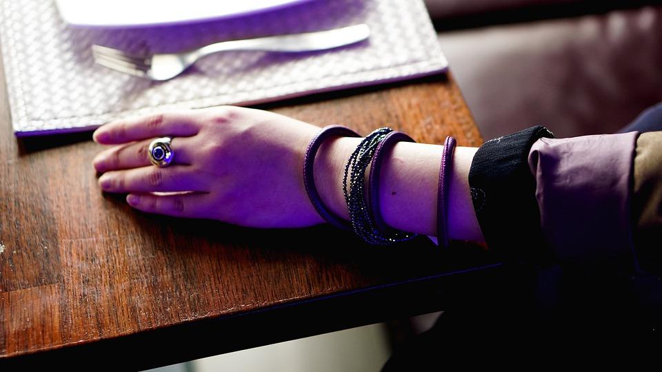 Jewelry, Restaurant, Hand, Girl, Bracelet, Ring