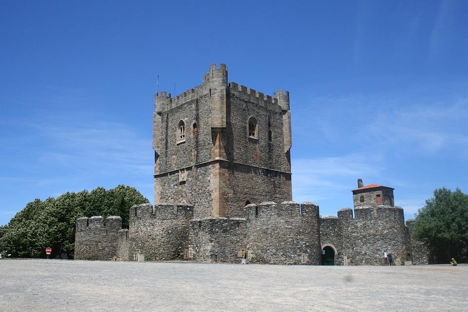 Portugal, Bragança, Castle, Castle Wall