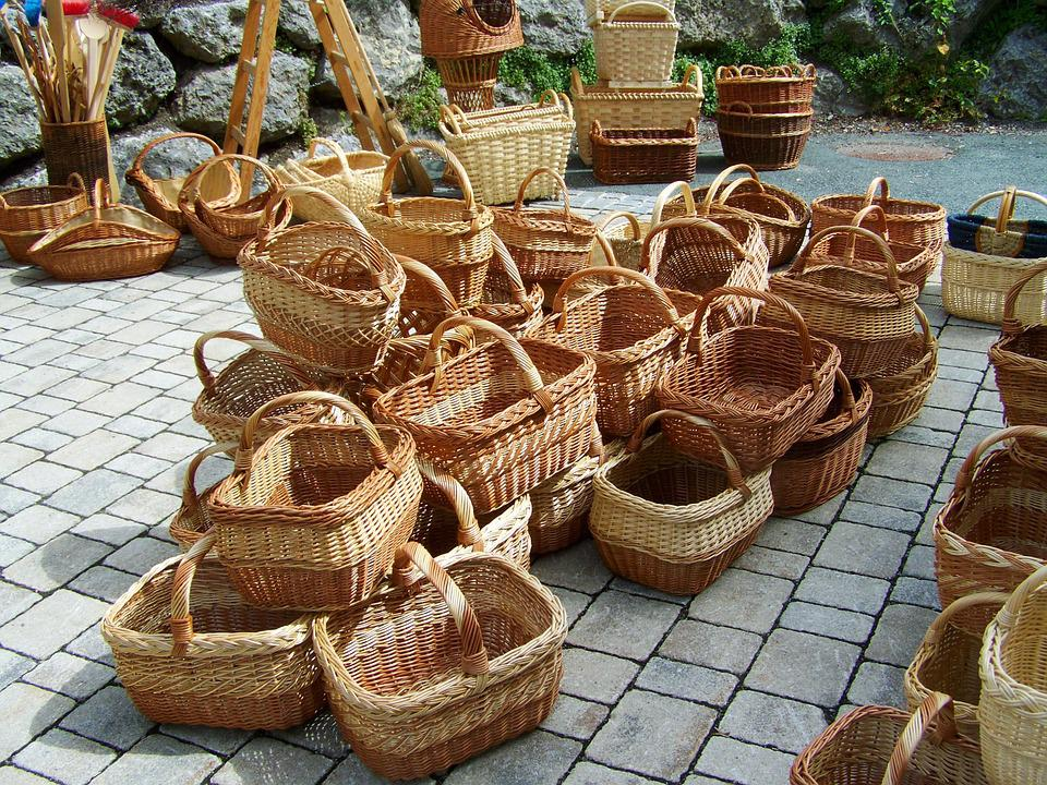 Baskets, Braided, Handmade Product