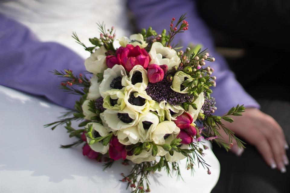 Bride, Flowers, Branch, Bouquet