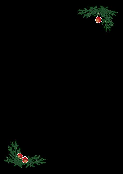 Branch, Christmas Balls, Border, Pine, Ornament
