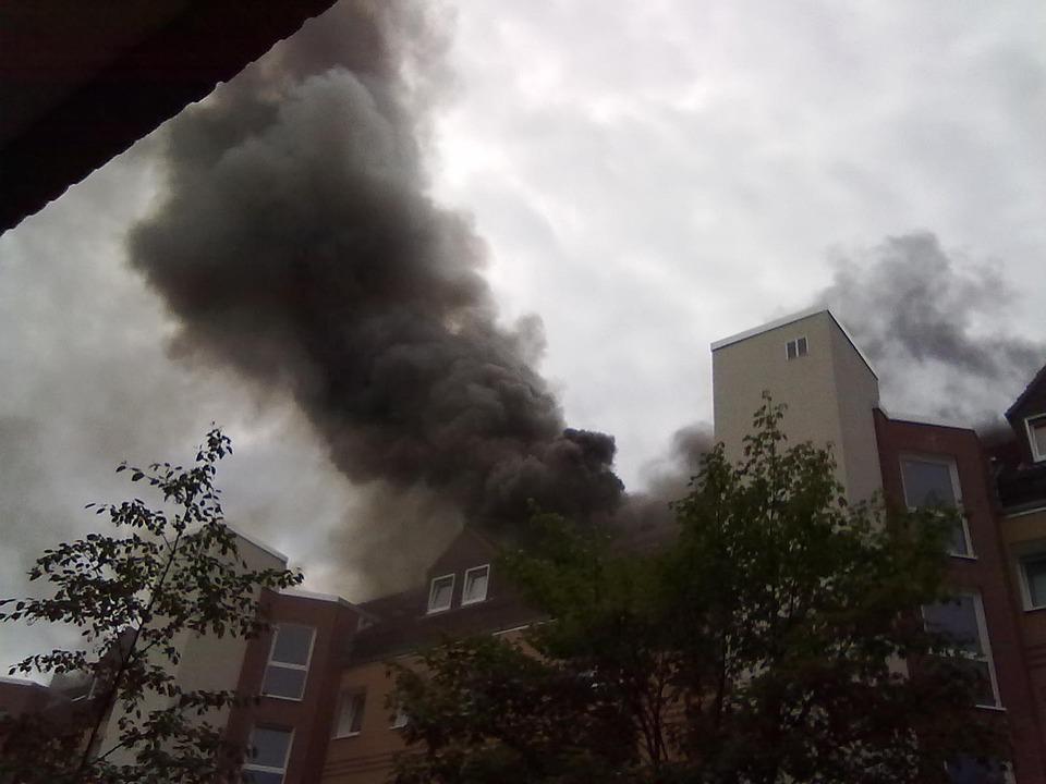 Fire, Brand, Apartment Fire, Smoke