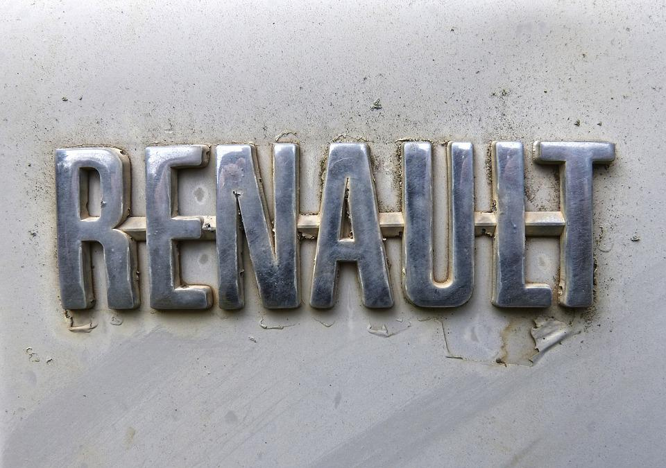 Logo, Brand, Renault, Veneer, Metallic, Antique Car