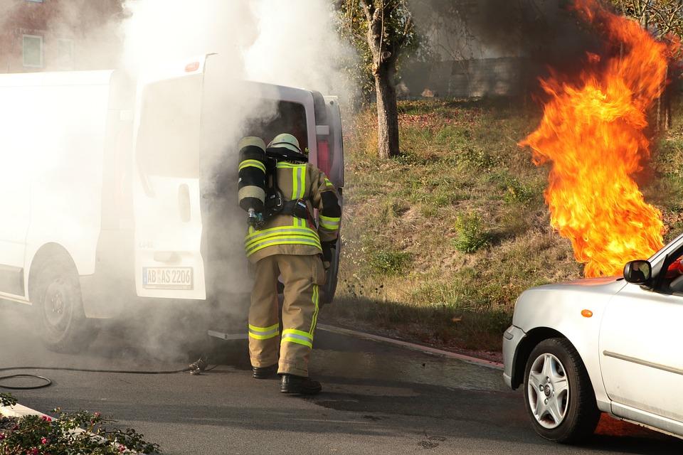 Fire, Smoke, Traffic Accident, Accident, Burn, Brand