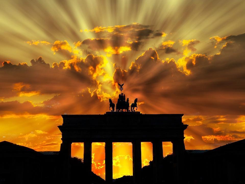 Brandenburger Tor, Dusk, Dawn, Twilight, Sunset, Berlin