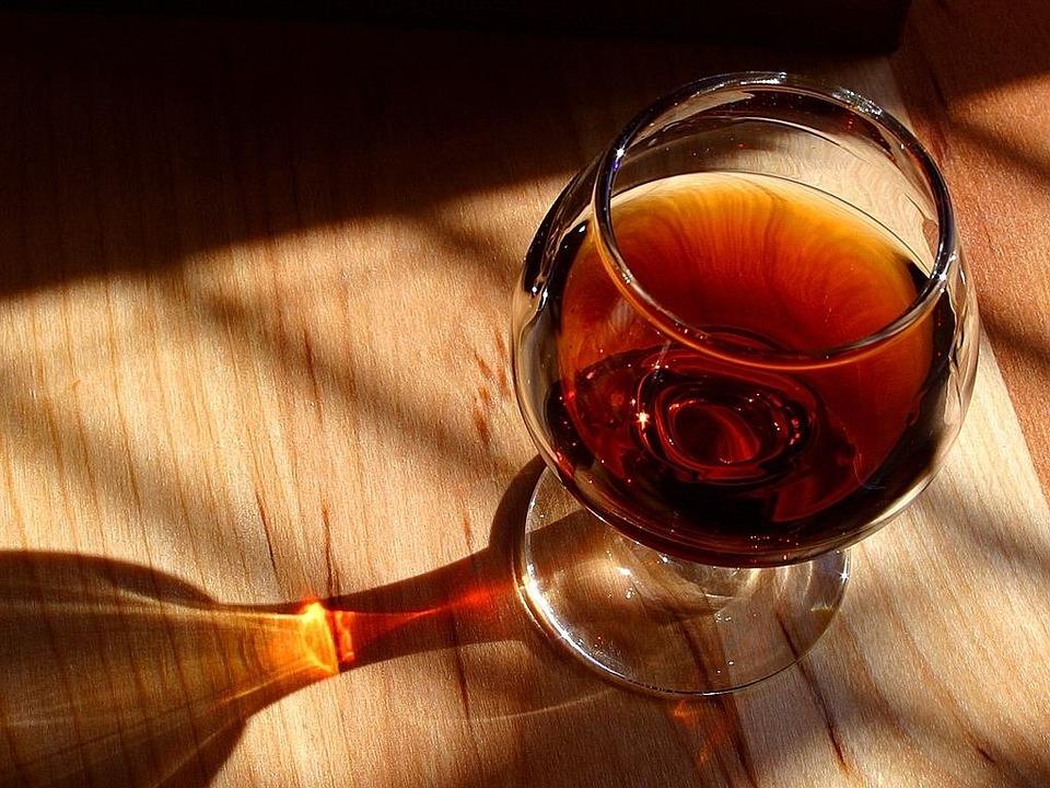 Cognac, Brandy, Alcohol, High Percentage, Brown