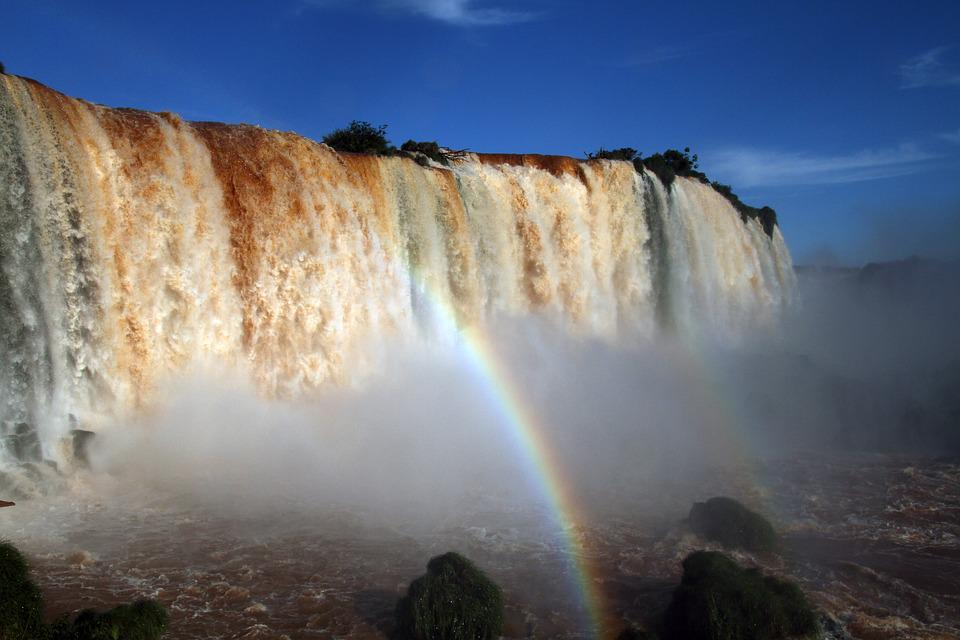 Iguazu Falls, Waterfalls, Brasil, Water, South, America