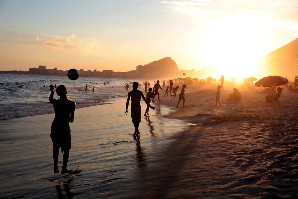 Rio, Brasil, People, Soccer, Football, Beach, Ball
