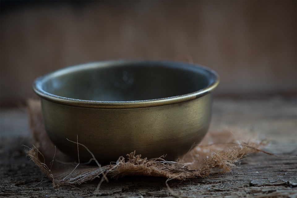 Bowl, Brass, Brass Bowl, Vessel, Close