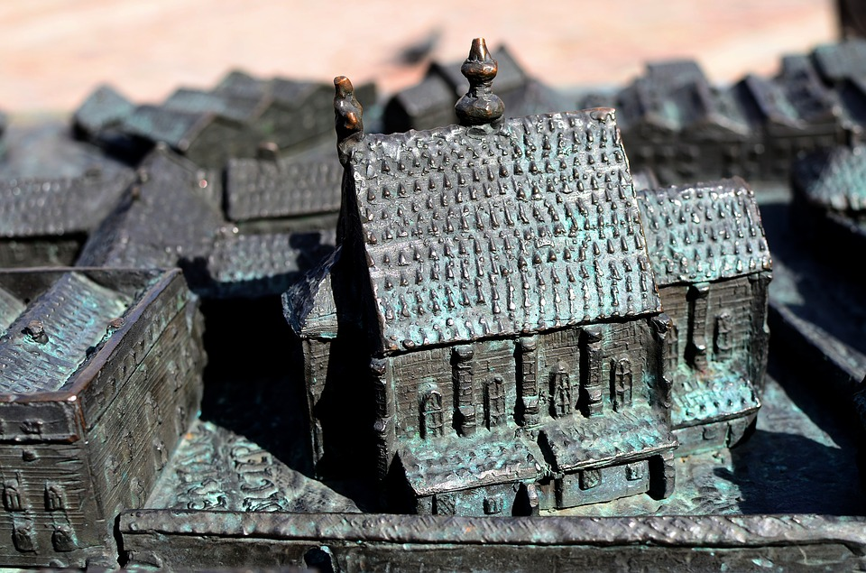 Mockup, City, Kraków, Brass, Cast, Architecture, Poland
