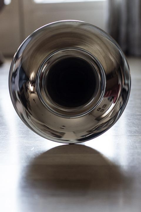 Drink, Glass Container, Bright, Trombone, Brass