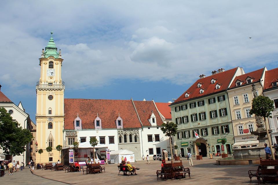 Bratislava, Capital, Slovakia, Church, Downtown