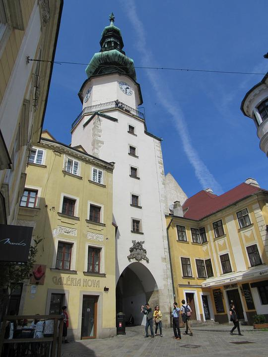 Bratislava, Slovakia, Tower, Center