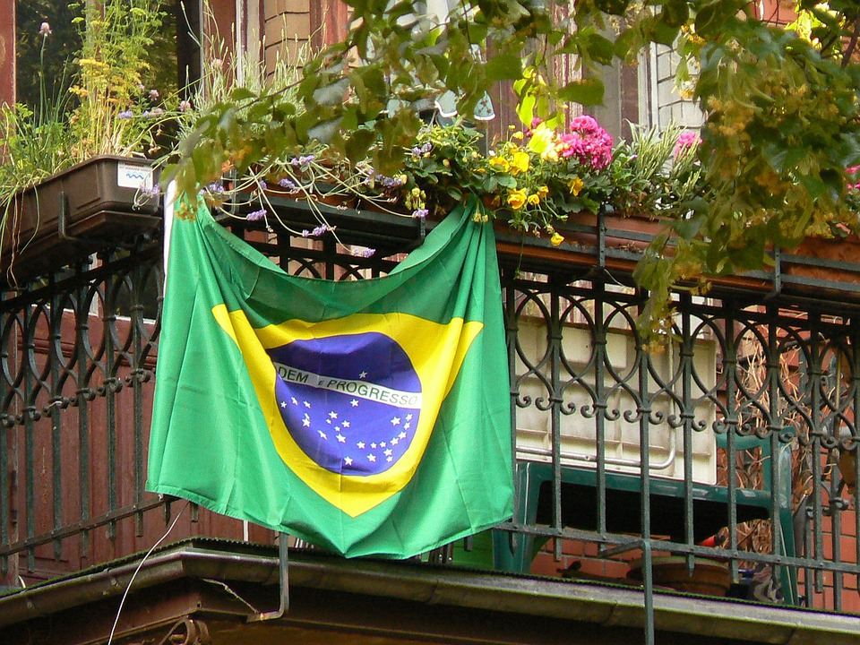 Brazil, Flag, Balcony