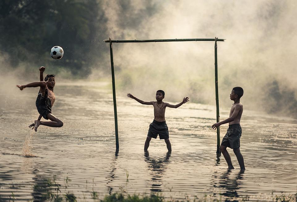 Jump, Ball, Boys, Brazil, Cambodia, Dust, Exercise