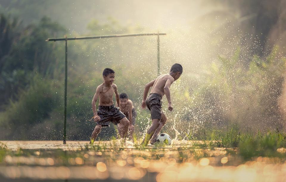 Football, Children, Sports, Ball, Boys, Brazil