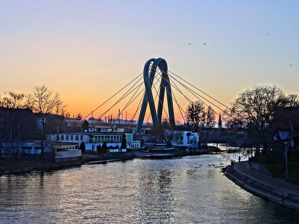 Bydgoszcz, Brda, University, Bridge, Structure, Poland