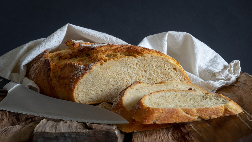 Knife, Bread, Food, Baking, Fresh, Baked, Traditional