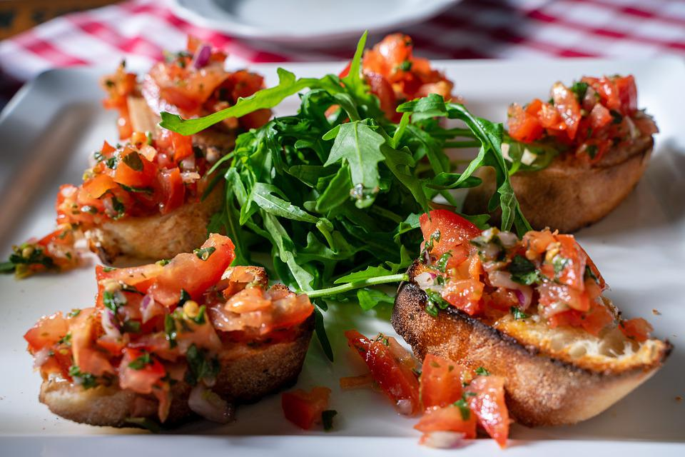 Bruschetta, Tomatoes, Food, Bread, Delicious, Eat