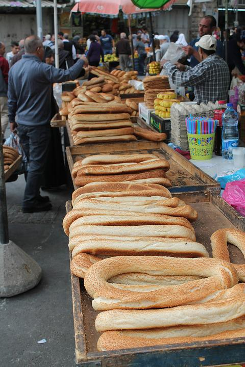 Jerusalem, Bread, Bazar, Israel, Seller