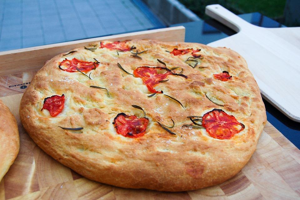 Focaccia, Pasta, Bread, Grill