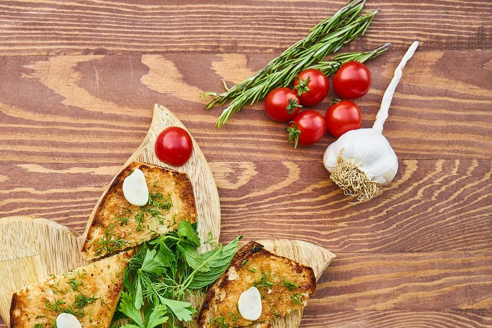 Tomato, Bread, Red, Onion, Garlic, White, Scented