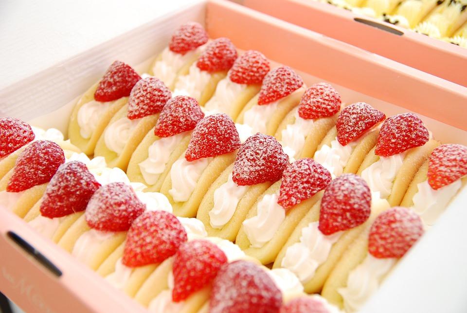 Dessert, Strawberry, Bread, Sweet, Delicious, Food