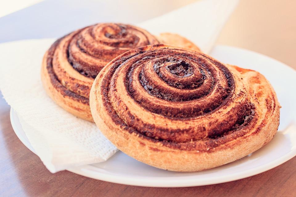 Cinnamon Rolls, Bread, Spiral, Baking, Pastries, Tasty