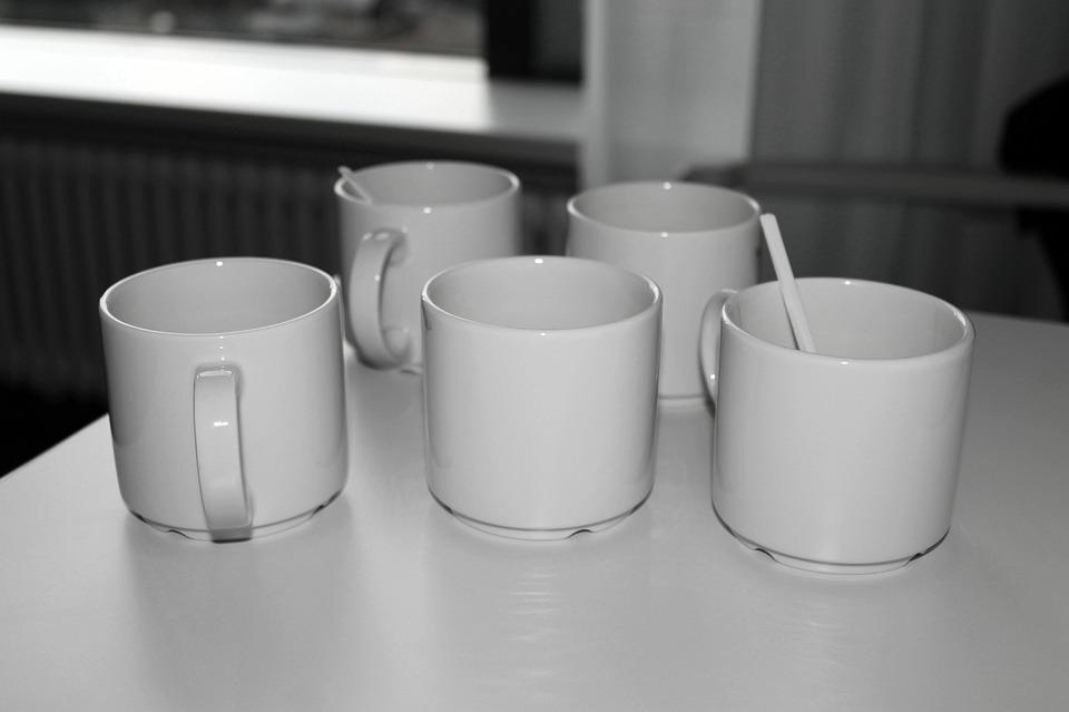 T, Coffee Mugs, Coffee, Break, Empty Cup, Ceramic Cups