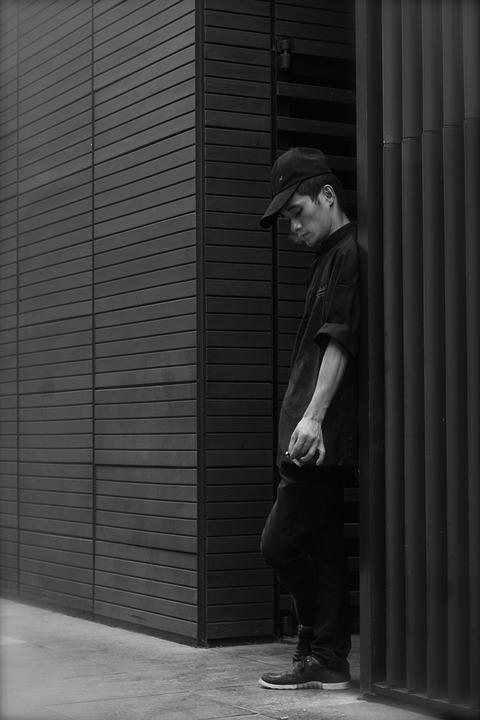 Man, Smoking, Worker, Break, Street Photography