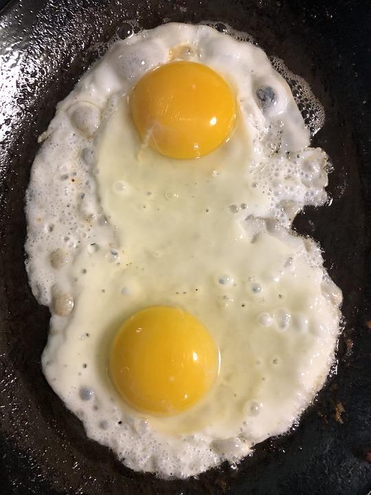 Eggs, Breakfast, Fried, Egg, Food, Protein, Healthy
