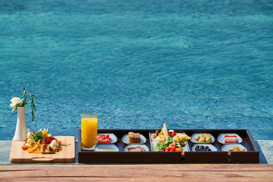 Breakfast, Pool, Fresh, Delicious, Diet, Food, Healthy