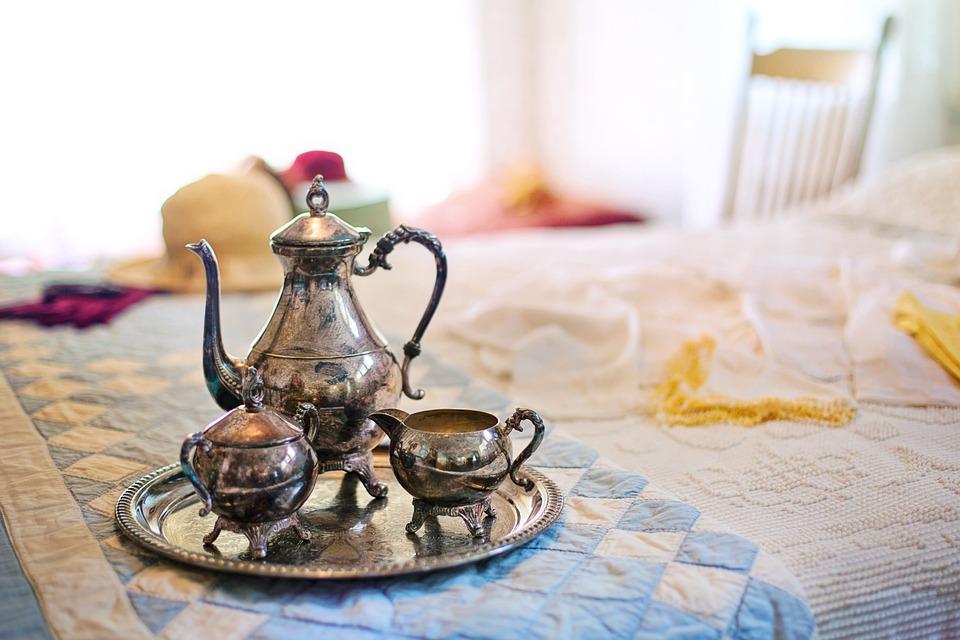 Silver Tea Set, Tea Time, Tea, Breakfast In Bed