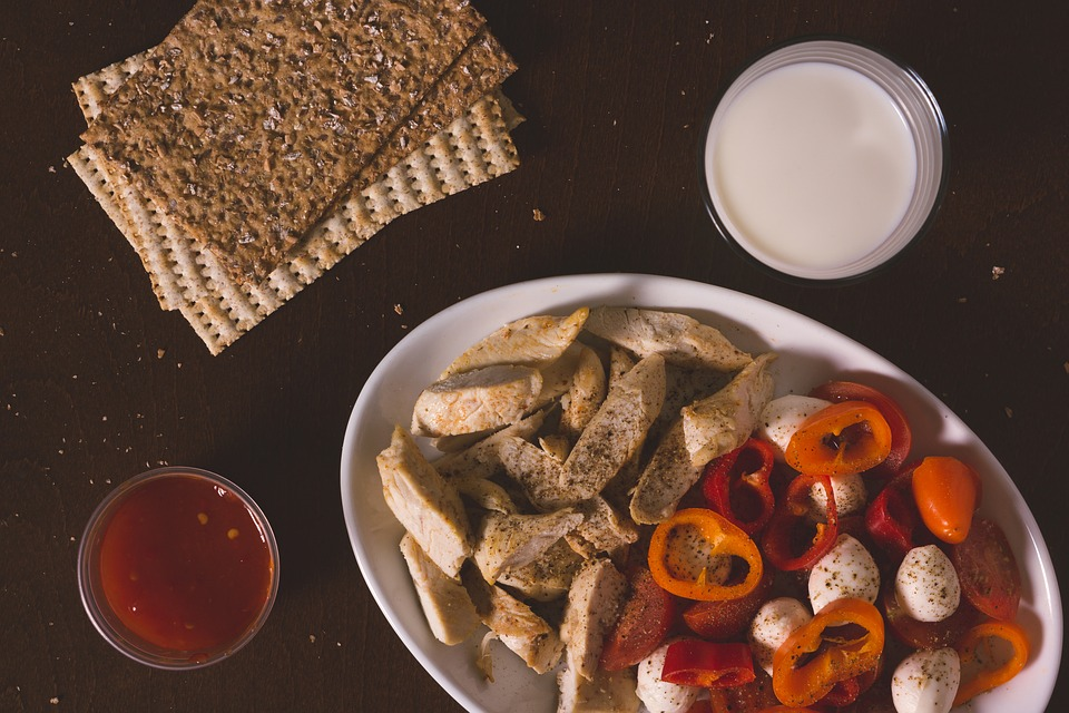 Eating, Food, Breakfast, Chicken, Meal, Milk, Bread