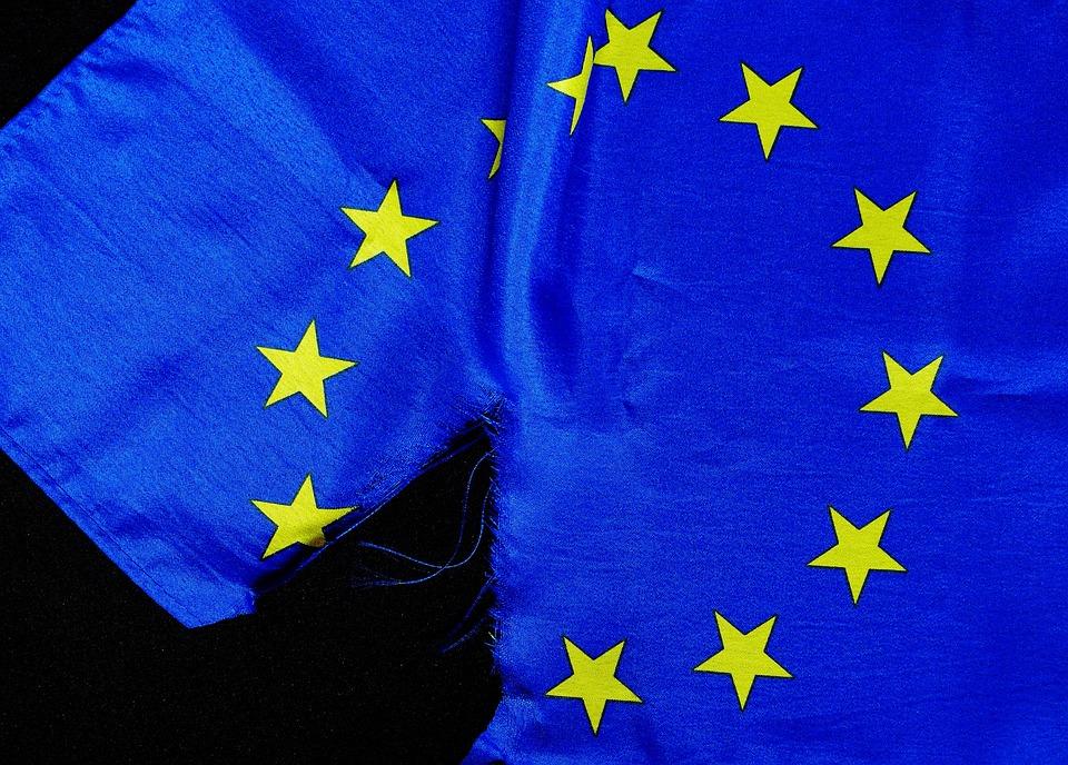 Breaking Point, Euro Flag, European Union, Brexit
