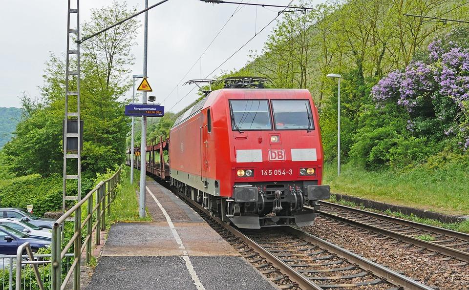Railway, Freight Train, Main Line, Breakpoint, Platform