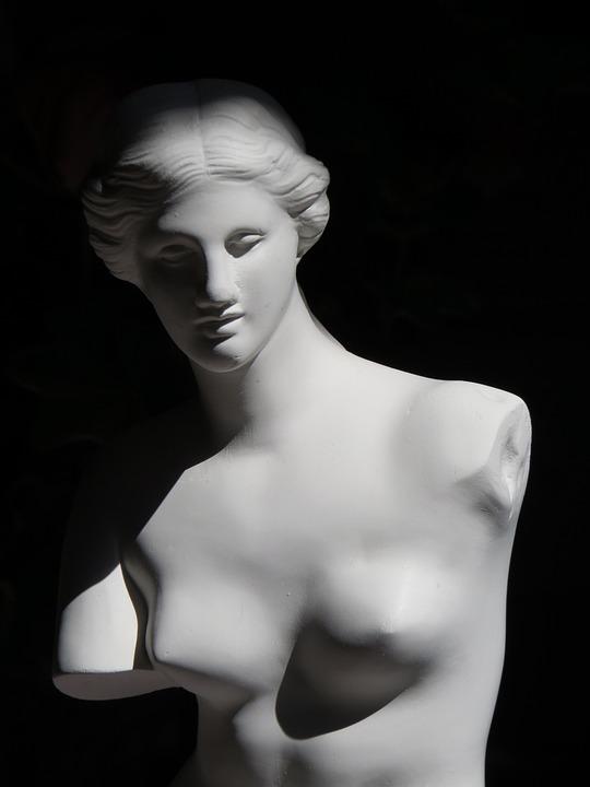 Venus, Gypsum, Model, Sculpture, Woman, Youth, Breast