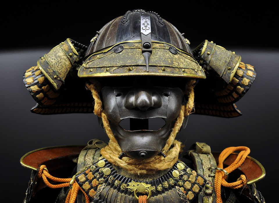 Samurai, Suit, Helmet, Breast-plate, Old, Ancient
