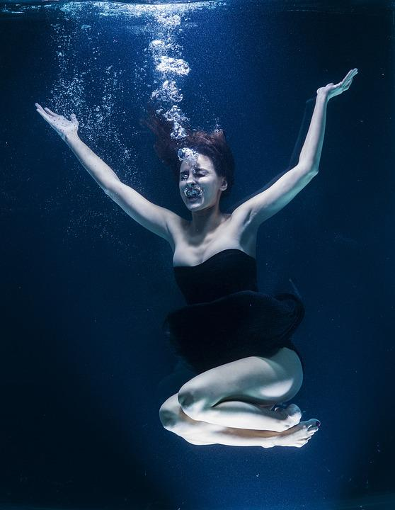 Scream, Water, Air, Breath, Art, Photography, Studio