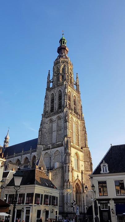 Breda, Church, Netherlands, Building, Faith, Tower