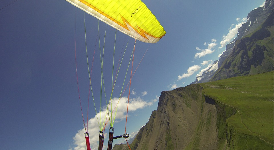 Paragliding, Fly, Summer, Mountains, Freedom, Breeze
