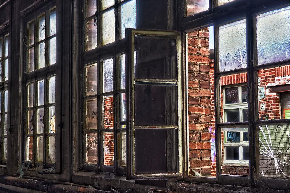 Brick, Old, Wall, Architecture, Window, Facade