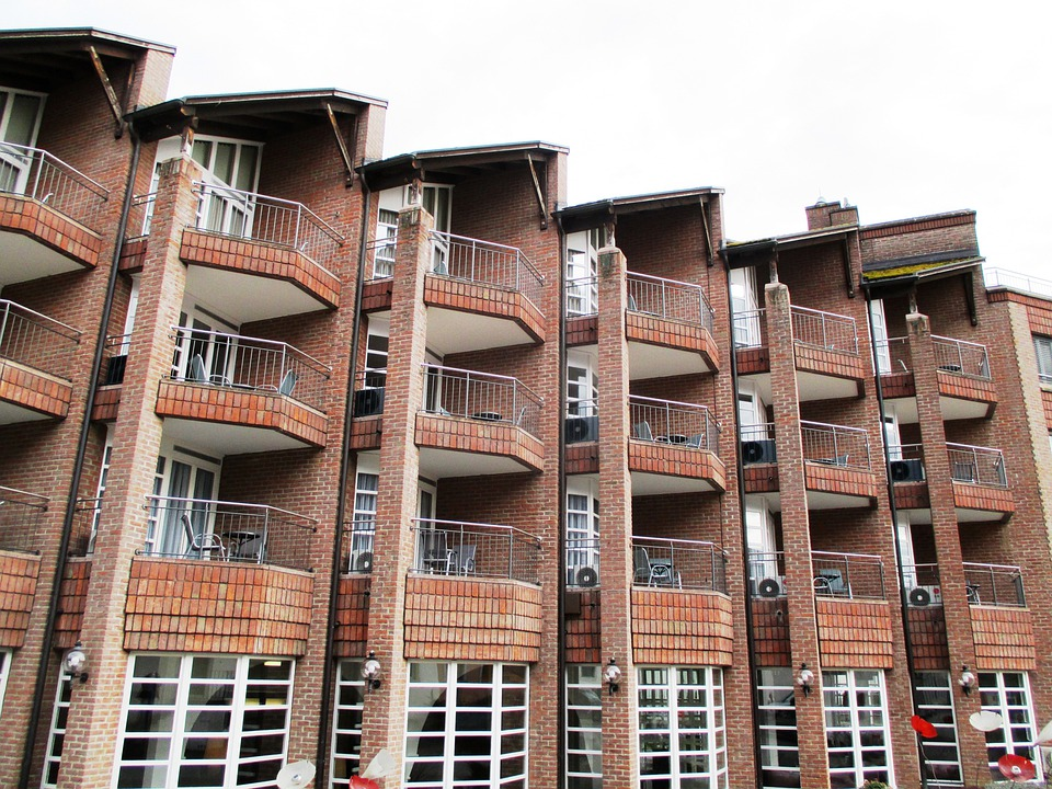Architecture, Facade, Brick, Window, Balconies, Hotel